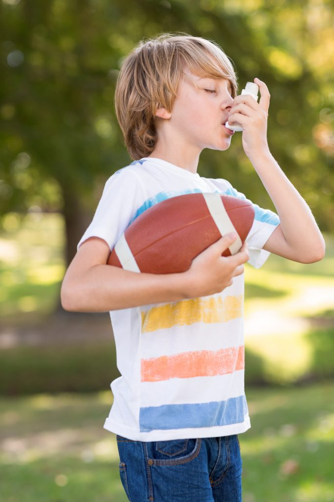 Can child play sports with asthma